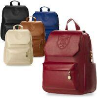 kleiner Damen - Rucksack Damentasche mit Wappen Retro - Style viele Farben