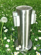 Nordlux Power socket acero inoxidable energía pilar dos enchufes ip44 jardín enchufe