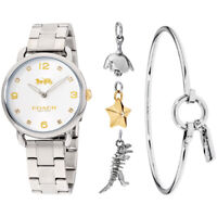 Coach Delancey Gift Set Quartz Movement Silver Dial Ladies Watch 14000056