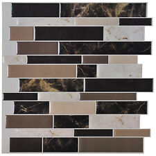 "10 Pieces 12"" x  12"" Kitchen Backsplash Sticker Peel and Stick Tiles DIY Vinyl"