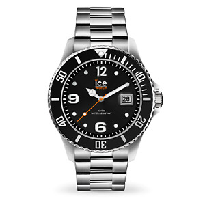 Ice-Watch Men's  Black & silver Stainless Steel (Large) watch 016032 RRP £99