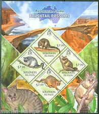 SOLOMON ISLANDS  2013 AUSTRALIAN FAUNA BRUSHTAIL POSSUMS SHEET  MINT NH