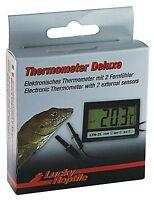 Lucky Reptile Digital Thermometer 2 sensors / probes, clock for reptile vivarium