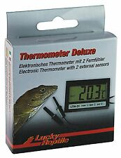 Lucky Reptile Digital Thermometer 2 sensors / probes, clock for reptile vivarium