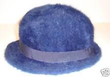 Bonnet Chapeau bleu noir poil ANGORA laulhere T 51 XXS chaud hiver NEUF
