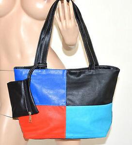 BORSA donna pelle nera ecopelle shopper grande tracolla mano spalla maxi bag 115