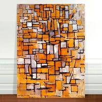 "Piet Modrian Abstract Flowers ~ FINE ART CANVAS PRINT 36x24"""