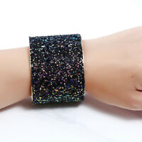 Alloy Sequins Bangle Bracelet Fashion Jewelry Gold Wide Cuff Bangles For Women