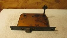 Antique Yale Pocket Door Lock & Key