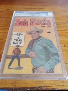 CGC 8.5 Bob Steele Western #3 Fawcett Pub. 1951 Photo Cover Golden Age Comic