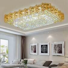 Elegant Modern Crystal Ceiling Fixtures Lamps Chandelier Dimming Led Light deco