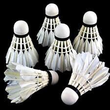 12 Stuecke Badminton Gaensedaunen Ball Badminton Outdoor-Sport Fitness Zube J8F5 Badminton Bälle