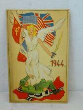 1944 - Allies trample Axis - postkaart