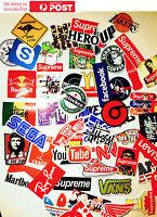 60pc Brand logo Stickers Vinyl Stickers Decals Snowboard Luggage Car Laptop Bike