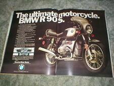 1974 BMW R90S Twin Cylinder Cycle 2 page Street Bike Ad 900cc Road Bike