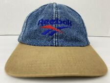 REEBOK Vintage Blue Denim Jean Low Profile Ocean Spray Strapback Adjustable Cap