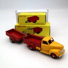 Atlas Set Dinky Toys 25S 25P Studebaker Camionnette Remorque 2 Roues Metal Model