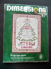 Dimensions Counted Cross Stitch Kit Welcome Friends Sampler Christmas Tree #8302