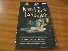 THE NOTORIOUS LANDLADY BY IRVING SHULMAN PULP FICTION FILM TIE-IN PAPERBACK