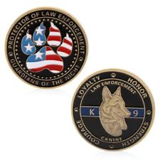 Police Dog Guardians Law Enforcement Protector Commemorative Challenge Coin Gift