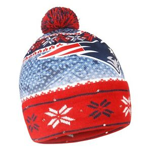 New England Patriots Forever Collectibles NFL UGLY Light Up Beanie FREE SHIP