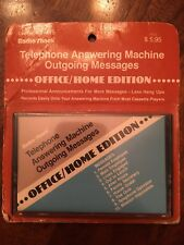 (1) Radio Shack Telephone Answering Machine Outgoing Messages Cassette NOS