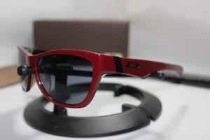 New Oakley Jupiter LX Sunglasses Brick Red/Grey 03-284