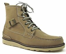 Hunter Men's Alister Ankle Boots, Dark Beige Leather Lace-Up Size 10 M