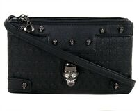 GOTHX SKULL CRYSTAL HEAD Ladies Handbag Clutch Evening Rock Goth Gothic Bag