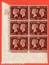 "SG. 481. QCom4. 1½d Red-Brown. A superb UNMOUNTED MINT "" Control G40 cyl B14140"