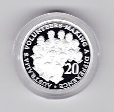 2003 SILVER Proof 20 Cent Volunteers Coin Australia ex Fine Silver Set