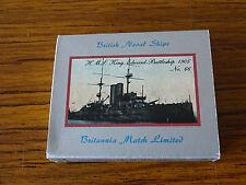 Vintage Match Box Label - British Naval Ships No.66 HMS King Edward