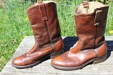 VINTAGE DISTRESSED RED WING CORK SOLE ENGINEER BOOTS 9.5 D