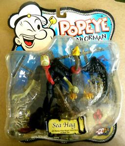 Mezco 2001 SEA HAG  Popeye the Sailor Man Action Figure MIP mf in blister