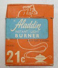 OLD ALADDIN INSTANT LIGHT BURNER BOX ONLY WITH INSTRUCTIONS