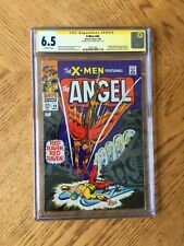 X-Men #44 Signed Roy Thomas 1st Appearance Red Raven Origin Iceman 6.5 FN+ CGC