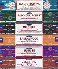 6 Satya Nag Champa Sunrise Sandalwood Midnight Patchouli Celestial Incense Stick