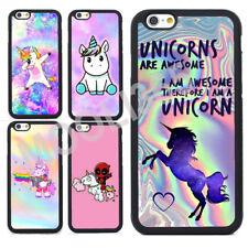 Cute Unicorn Silicone Bumper Phone Case Cover for iPhone X 8 7 6 6s Plus 5s 5 4