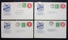 US 4 Advertising Realtors Cover Postal Stationery Ganzsache ZuF 4 Briefe (I-6465