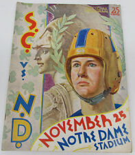 1939 Notre Dame v USC Football Program 11/25/39 VG Missing Lineup Page 22220