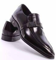 Versace Collection Men's Leather Oxford Shoe, Black, 41 EU/ 8 US