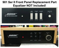Vintage Bose 901 Series II Equalizer Front Control Panel • White On Black • NEW!
