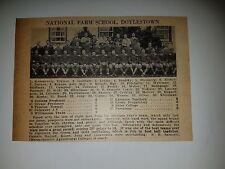 National Farm School & Dormont High School PA 1928 Football Team Picture