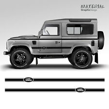 Land Rover Side Stripes Graphics Stickers Decals - DEFENDER 3 5 DOOR 110 4x4 90
