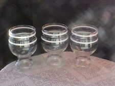 "Retro Black and White Striped Glasses Federal 5 1/4"" Tumblers 3 Total Hold16Oz"