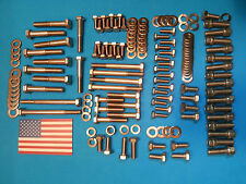 Ford Cleveland 302 351 Full Stainless engine Bolt Kit. Replaces arp falcon gt