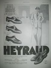 PUBLICITE DE PRESSE HEYRAUD CHAUSSURES MODELES MONACO BANCO CHAMONIX AD 1933