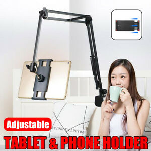 360° Flexible Long Arm Tablet Stand Mount Lazy Bed Desk Phone Holder Universal