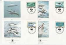 WWF 4 x FDC Montserrat 1990 - Vissen Dolfijn / Fish Dolfin (430)
