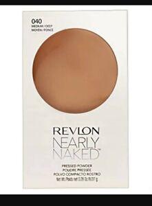 Revlon nearly naked pressed powder 040 medium deep